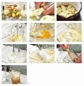 How to make a quark bake with steamed apples