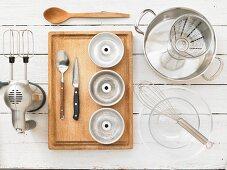 Kitchen utensils for making blancmange