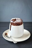 Homemade individual chocolate souffle