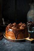 Chocolate Buttercream Pie with Chocolate