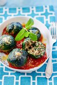 Chard balls with rice mince filling (Greece)