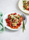Low-Carb Ricotta and Spinach Gnocchi with Arrabbiata Sauce