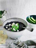Black turtle bean soup