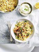 Pasta Salad with Trout, Lemon and Herbs