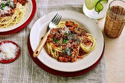 Pork and Eggplant spaghetti