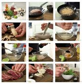 How to make beef fillet tataki with mirin and soy sauce