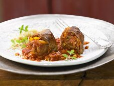 Moroccan style roulades with sultanas and almonds