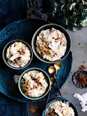 Latin American rice pudding with brown sugar and coconut