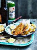 Puerto Rican bacalaitos (salt-cod fritters)