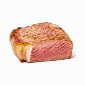 A medium-rare steak