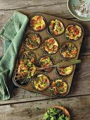 Hearty mini quiches with ground ham