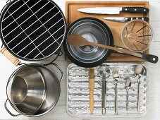 Kitchen utensils for preparing grilled vegetables