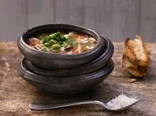 Tuscan mushroom soup with fennel and thyme
