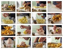 How to make roast chicken with potatoes and lemon