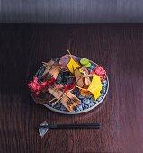 Yuan-miso, Adlerfisch mariniert und gegrillt mit Rettich