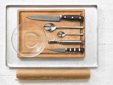 Kitchen utensils for preparing sweet potatoes