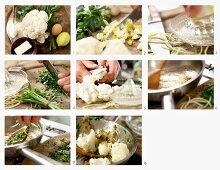 Blumenkohl auf polnische Art mit Ei, Zitrone und Bröseln zubereiten