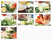 How to make millet salad with cucumber, tomatoes and mint