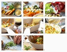 How to make millet with courgettes and carrots