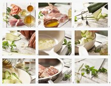 How to make pollock wrapped in ham with courgette slices