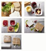 How to make a goat's cheese sandwich
