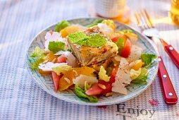 Spanish tortilla with salad