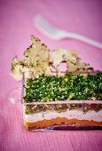 Carrot and fresh cheese terrine with herbs
