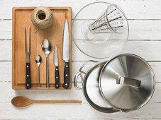Kitchen utensils for making cabbage rolls
