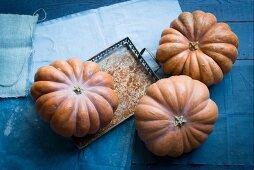 Three Muscat pumpkins