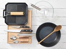 Kitchen utensils for fajitas