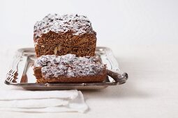 Fig and walnut bread with apple and beetroot syrup