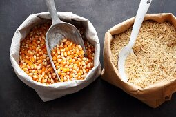 Corn and rice for gluten-free baking