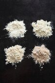 Wheat flour sifted to various degrees of refinement