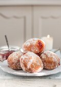 Donuts with a cinnamon and jam filling