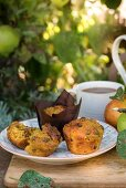 Apple and carrot muffins with raisins