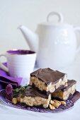 Peanut fudge with chocolate