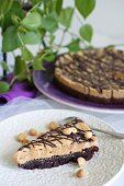 A chocolate and peanut cake