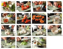 How to make oven cooked tomatoes with tuna and caper cream and a mixed leaf salad