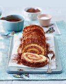 Chocolate sponge roll