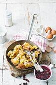 'Kaiserschmarrn', shredded Austrian-style pancakes, with cranberries