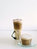 Iced mocha and cappuccino