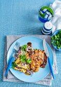 Caramelised Pork Chops with Fried Rice