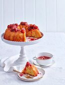 Whole Orange Cake with Rhubarb Syrup