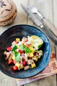 Ceviche with strawberries (Mexico)