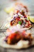 Tacos with suckling pig and pico de gallo (Mexico)