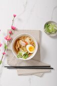 Toshikoshi, Japanese New Year's soup with chicken and egg