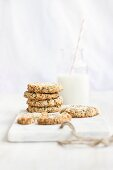 Lemon and chia cookies with cashew nuts and coconut (vegan, sugar free)