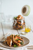 Grilled chicken and five bean salad