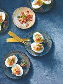 Russian eggs with North Sea shrimps
