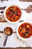 Bouillabaisse with seafood